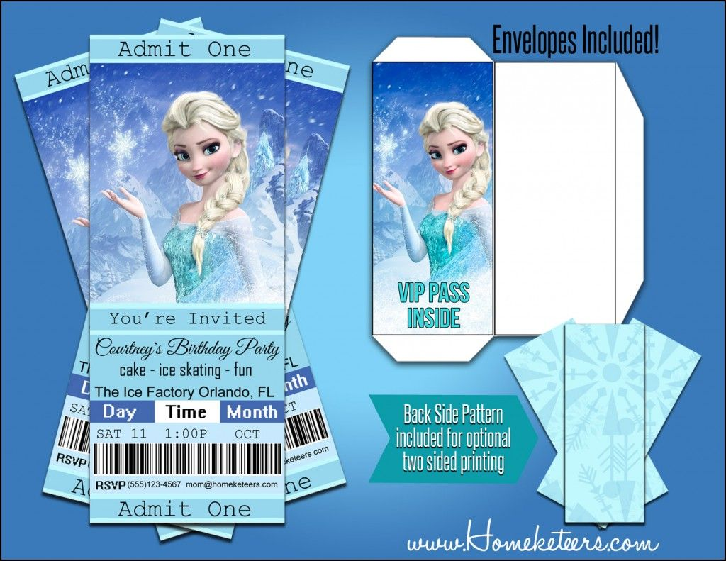 Personalized frozen movie ticket invitations only 199 do it personalized frozen movie ticket invitations only 199 solutioingenieria