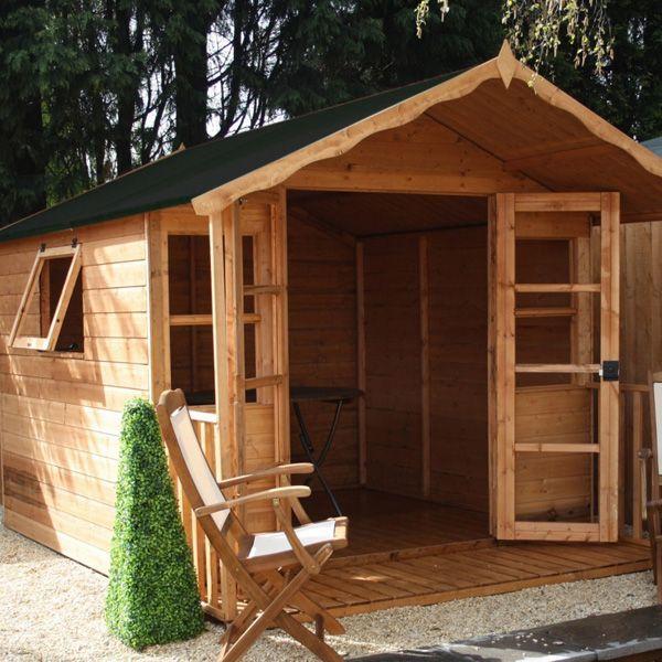 avon 8 x 12 stratford summer house with veranda httpwww - Garden Sheds With Veranda