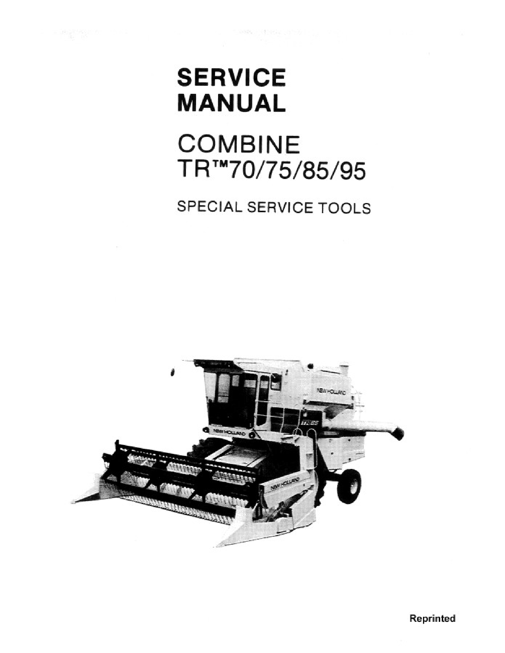 New Holland 70 Combines Tr Manual In 2020 New Holland Owners Manuals Manual