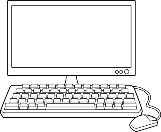 Computer Clipart Black And White Recherche Google For The
