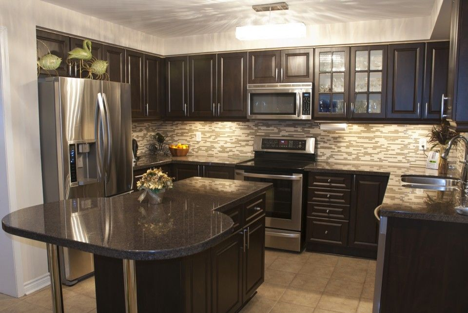 Best Classy Small Kitchen Design With Espresso Wood Kitchen 400 x 300