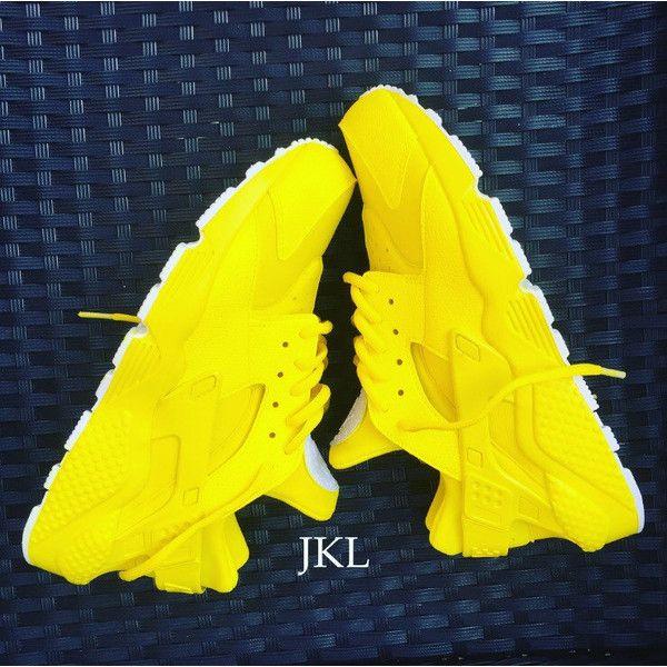 Lemon Zest Nike Air Huarache Lemon Huarache Nike Huarache Yellow... ($201)