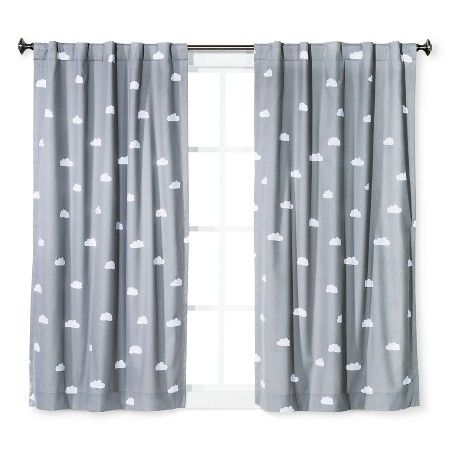 Twill Light Blocking Curtain Panel Cloud Print Pillowfort