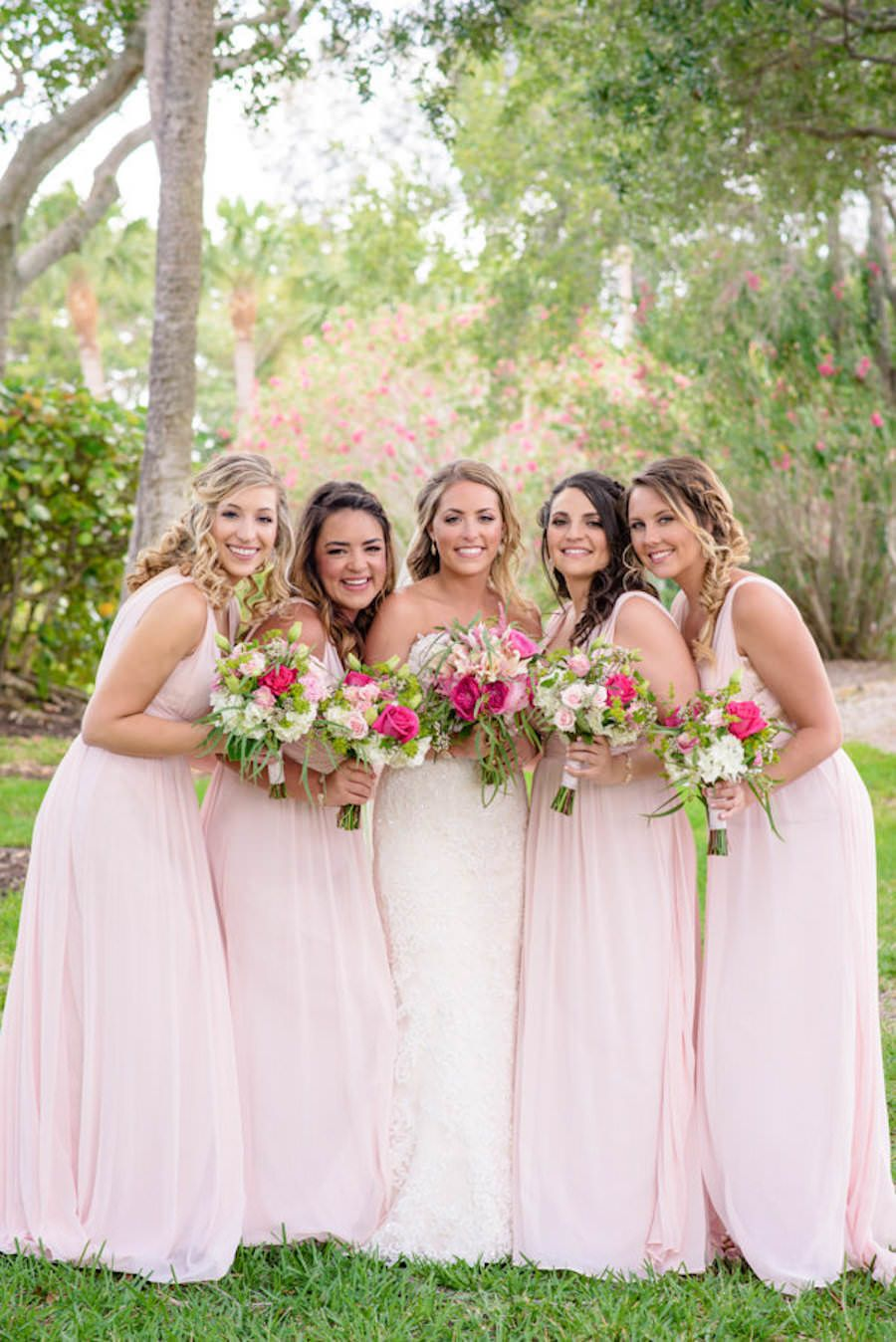 Blush pink and gold destination sarasota beach wedding mr and mrs