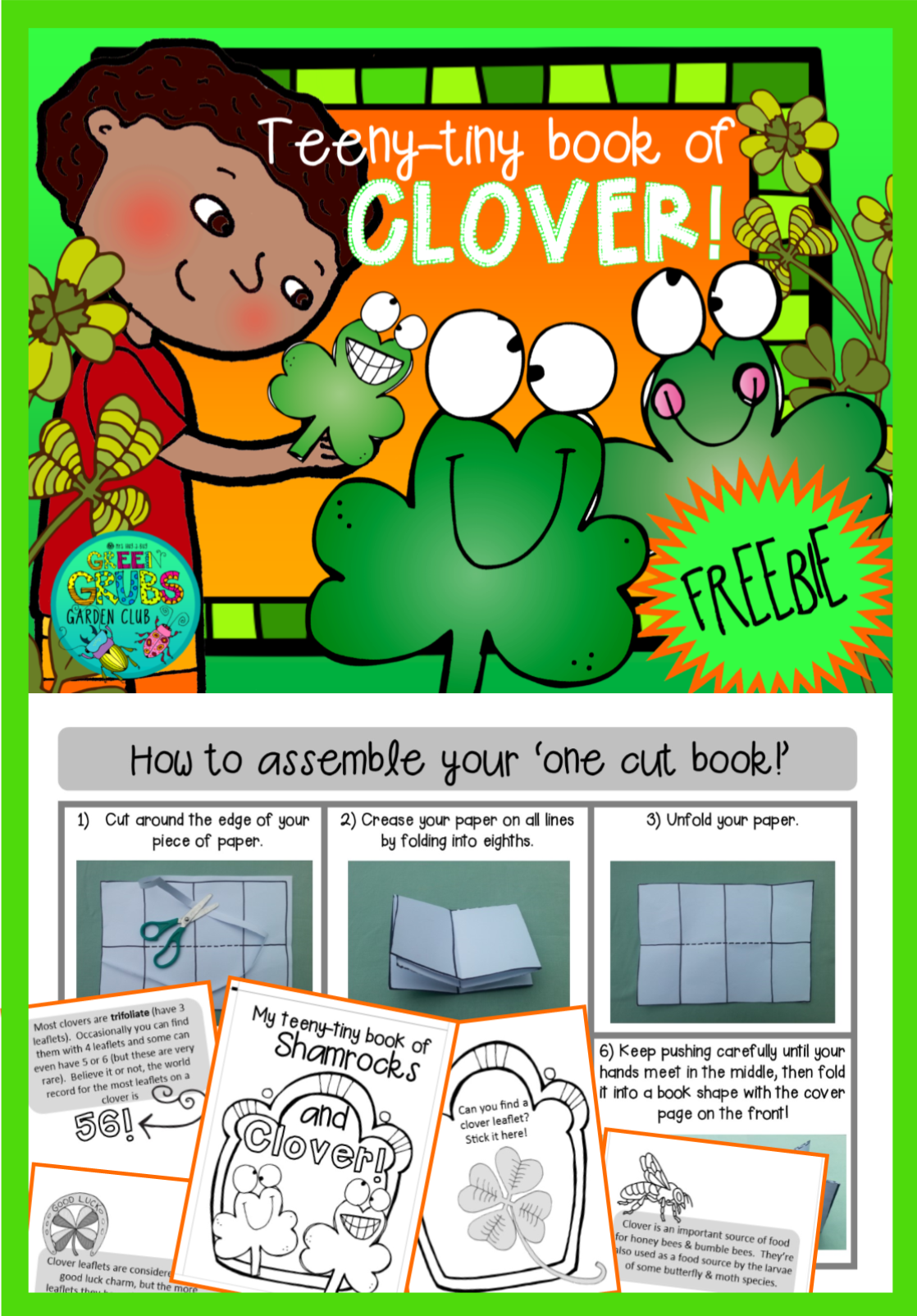 Clover Amp Shamrock St Patrick S Day Freebie Tiny Fun Amp Facts Booklet