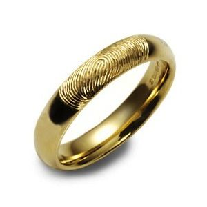 wedding bands gold 14k yellow gold wedding bands fingerprint wedding band is available in gold platinum