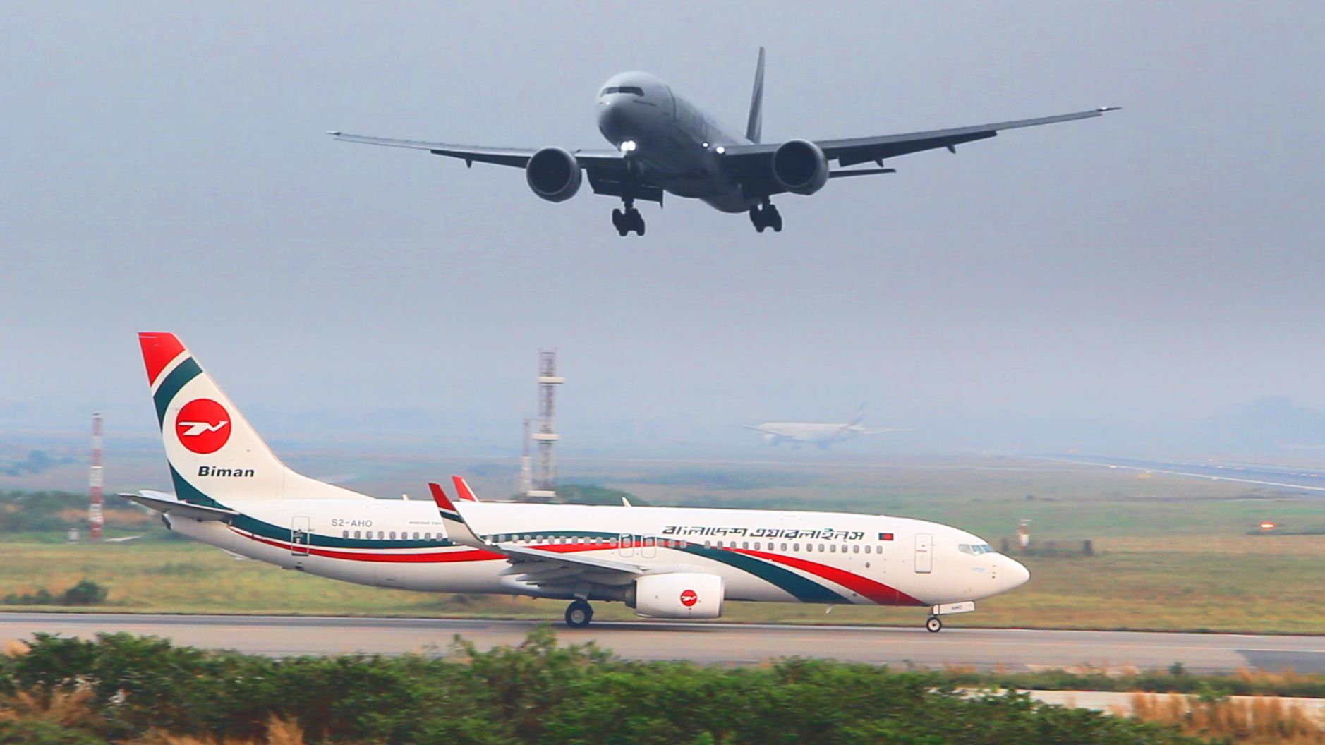 Airplane Landing And Takeoff At Dhaka Airport Aeroplane Video By
