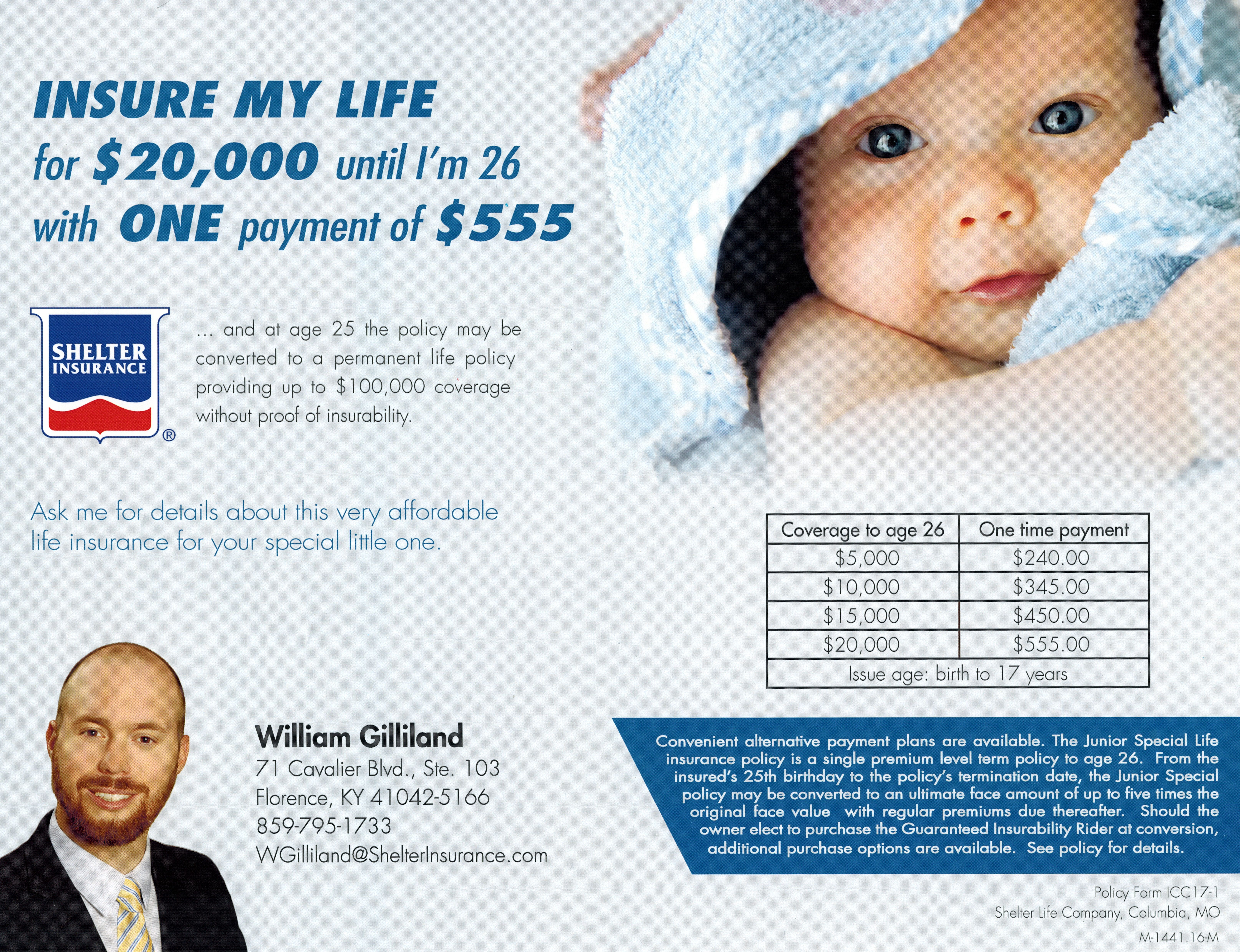 Junior Special Life Insurance can help your child lock in