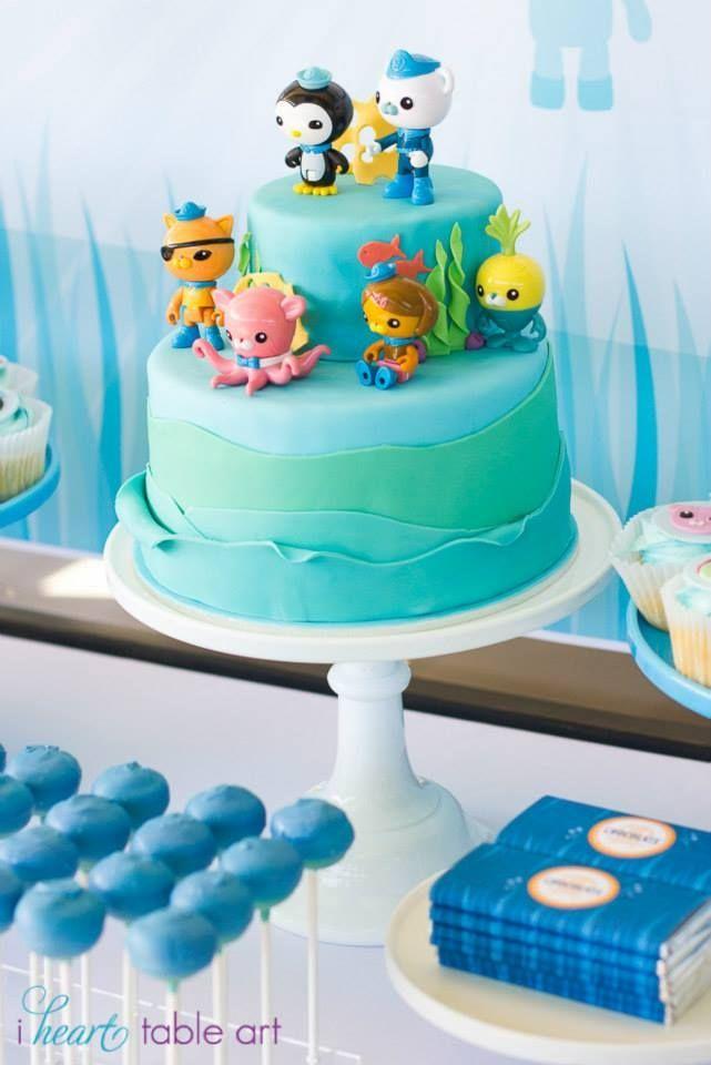 A Boys Octonauts Inspired 3rd Birthday Party Birthdays Cake