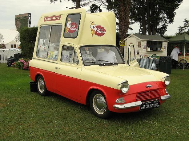 Morrison S Ice Cream Ford Anglia Van Ford Anglia Ice Cream Van Catering Van