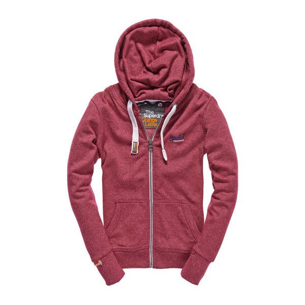 Orange Label Zip Hoodie (115 CAD) ❤ liked on Polyvore featuring tops, hoodies, outerwear, cherry jaspe, zip hoodie, orange hooded sweatshirt, red zip up hoodie, zip up hoodie and zip hoodies