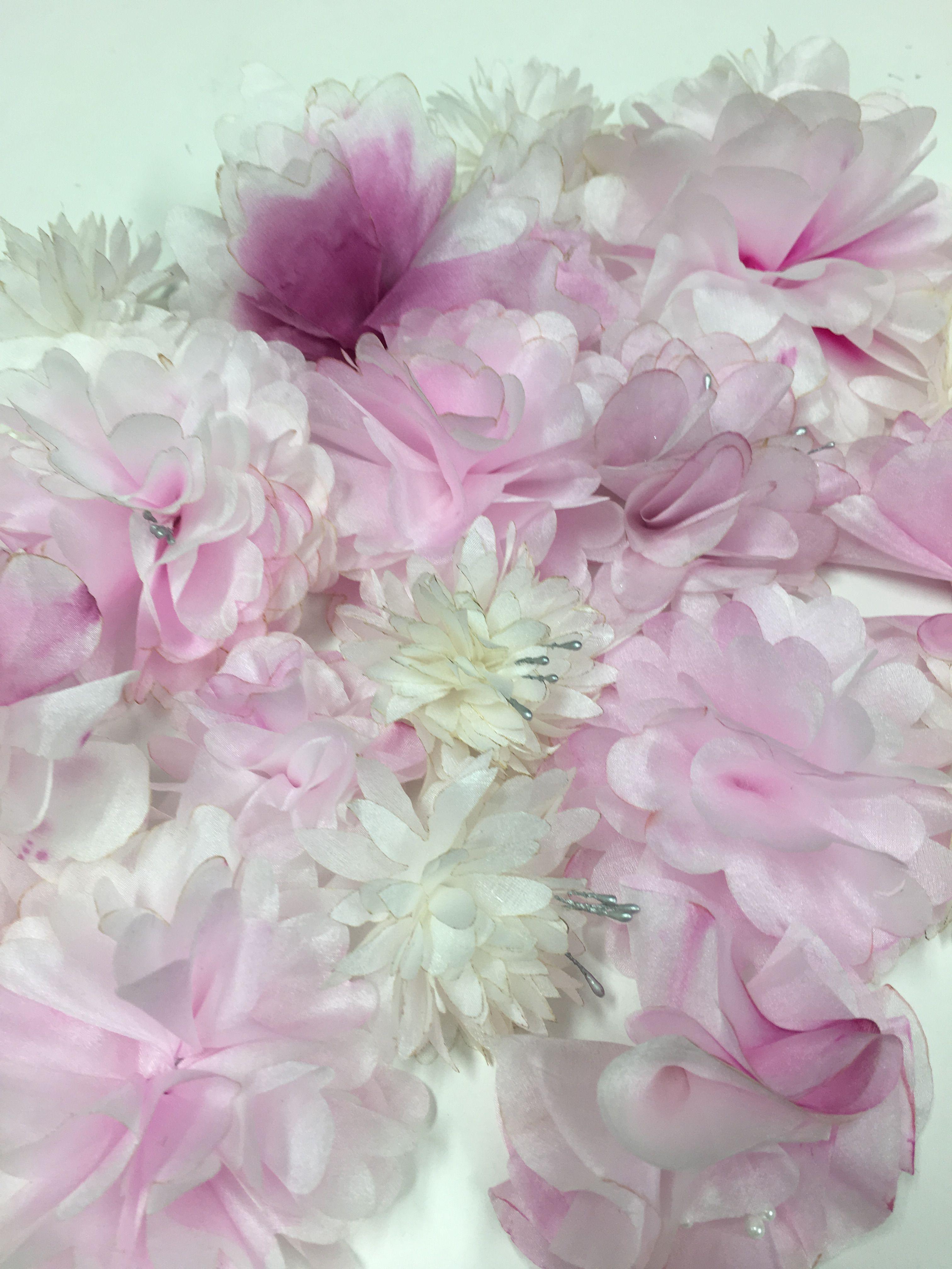 Laser Cut And Hand Painted Silk Flowers Fleurs De Soie Make