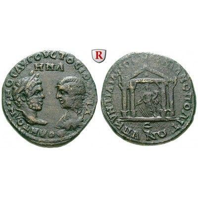 Römische Provinzialprägungen, Thrakien-Donaugebiet, Markianopolis, Caracalla, Bronze, ss+: Thrakien-Donaugebiet, Markianopolis.… #coins