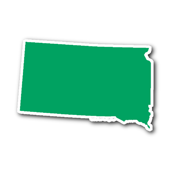 South Dakota State Shape Sticker Outline White South Dakota