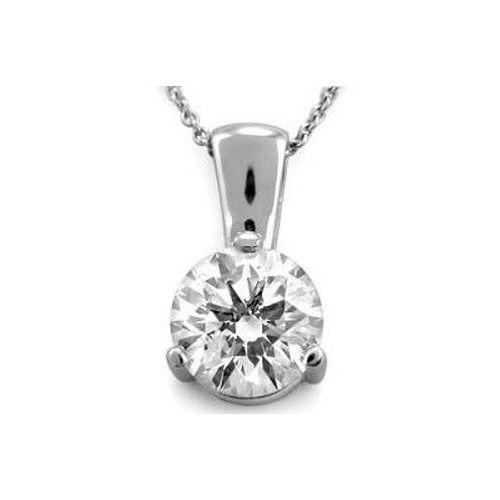 Diamantanhänger 0.25 Karat in 585er Weißgold F/VS2 Belly