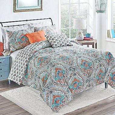 jcp   Vue Savannah Medallion Reversible Comforter Set