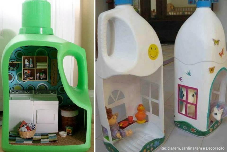Reuso de envases plasticos para hacer manualidades casa de mu ecas mu ecos y 960 - Munecos para casa de munecas ...
