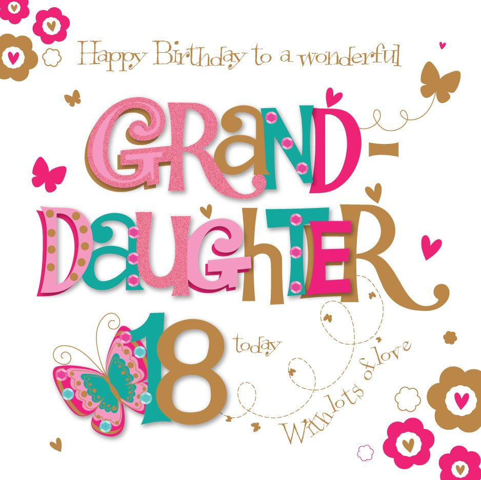 Happy 18th Birthday Granddaughter Cards