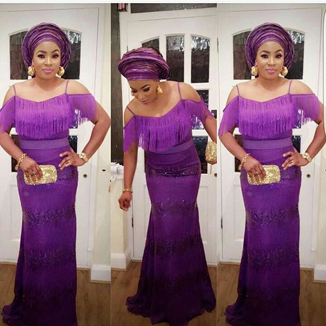 Image result for Aso ebi with Fringes