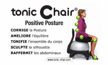 Tonic Chair La Chaise Anti Mal De Dos Chaise Ergonomique Chaise Abdominale