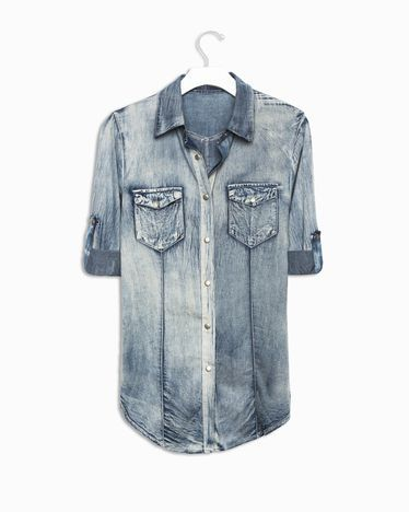 Distressed Chambray.  (I'm trying to find a label other than 'acid wash.')