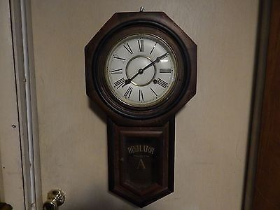 This Is A Pretty Nice Japanese Schoolhouse Clock The Case Is In Really Good Shape Tight And Does Not Need Gluing The Dia Clock Wall Clock Antique Wall Clock