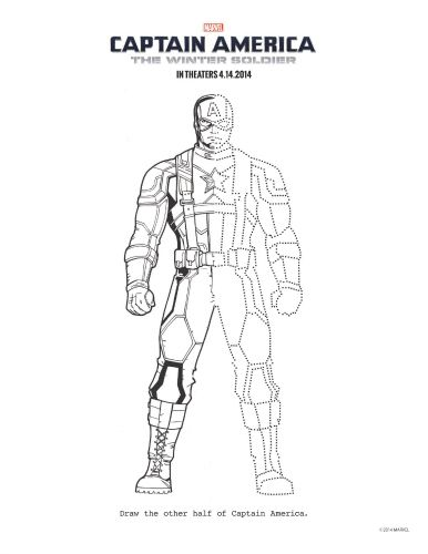 captain america the winter soldier printable coloring page