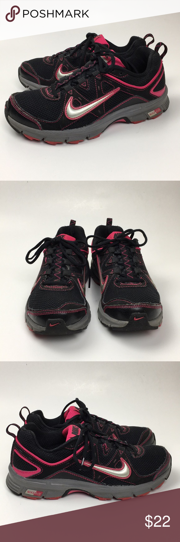 3860a030c52 Nike Air-Alvord 9 Black And Pink Gym Shoe Nike Air-Alvord 9 Trail ...