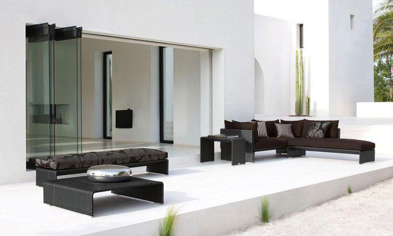Modern Outdoor Furniture   Modern Outdoor Wicker Furniture Set   Slim Line  By Dedon   FURNISHism