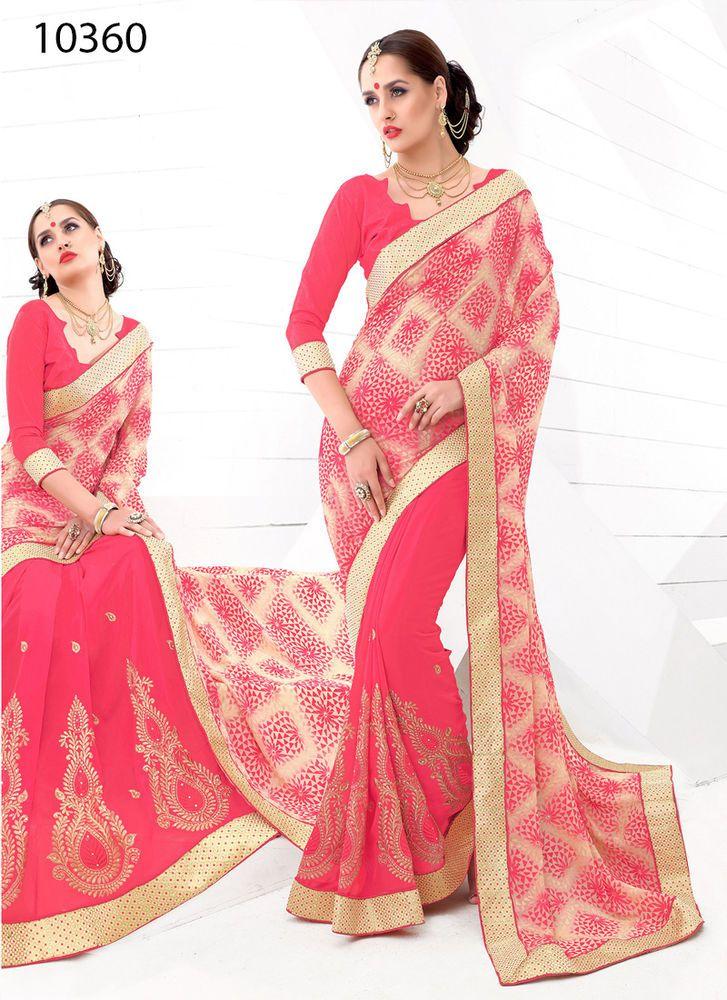 Indian Sari Bollywood Pakistani Party Ethnic Designer Dress Wedding ...