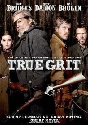 "TRUE GRIT (2010) - After drifter Tom Chaney (Josh Brolin) murders her father, 14-year-old Mattie Ross (Hailee Steinfeld) hires alcoholic U.S. Marshal Reuben ""Rooster"" Cogburn (Jeff Bridges) to help her exact revenge. The disreputable lawman still has grit, though, and mounts an epic search. Joining the duo on their quest is a Texas Ranger (Matt Damon) who's also hunting for Chaney in this updated Western that received multiple Oscar nods, including Best Picture."