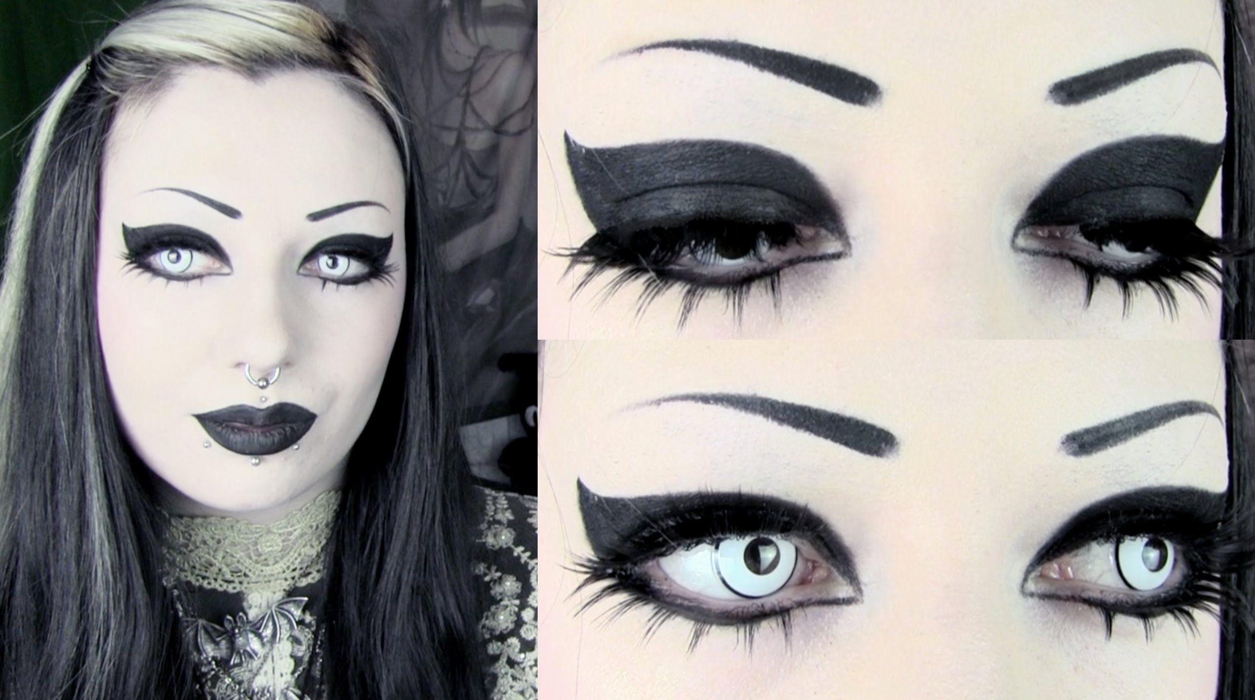 Simple Striking Goth Makeup Tutorial Toxic Tears Goth Makeup