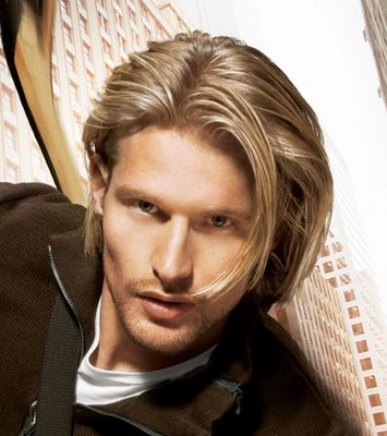 men with long hair | Long Hair Style with gentle waves, blonde (1 comment)