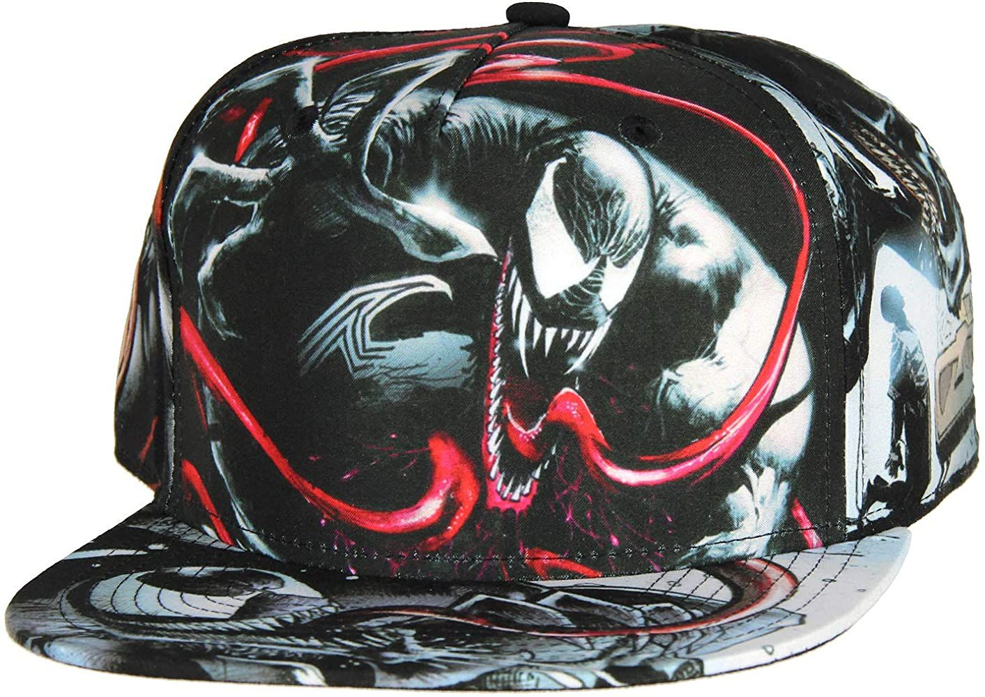 Marvel Comics Venom Sublimated All Over Print Snapback Hat At Amazon Men S Clothing Store In 2020 Snapback Hats Snapback Hats