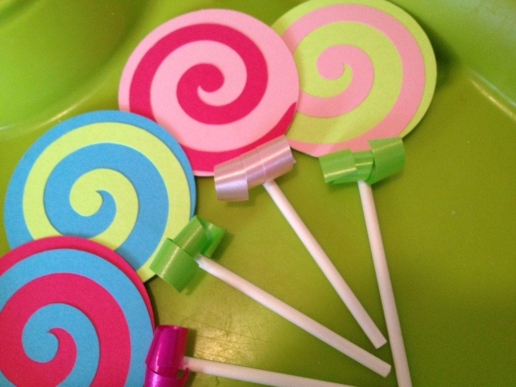 Candy Land Cupcake toppers- Great for Candyland Birthday Parties ...
