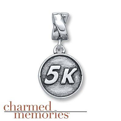 Charmed Memories 10K Race Charm Sterling Silver rfwgv4