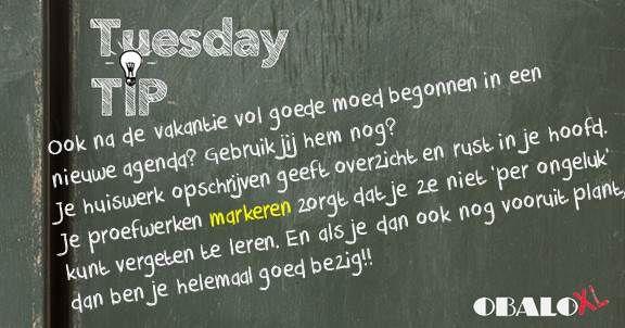 We gaan weer van start met onze Tuesday Tips :)