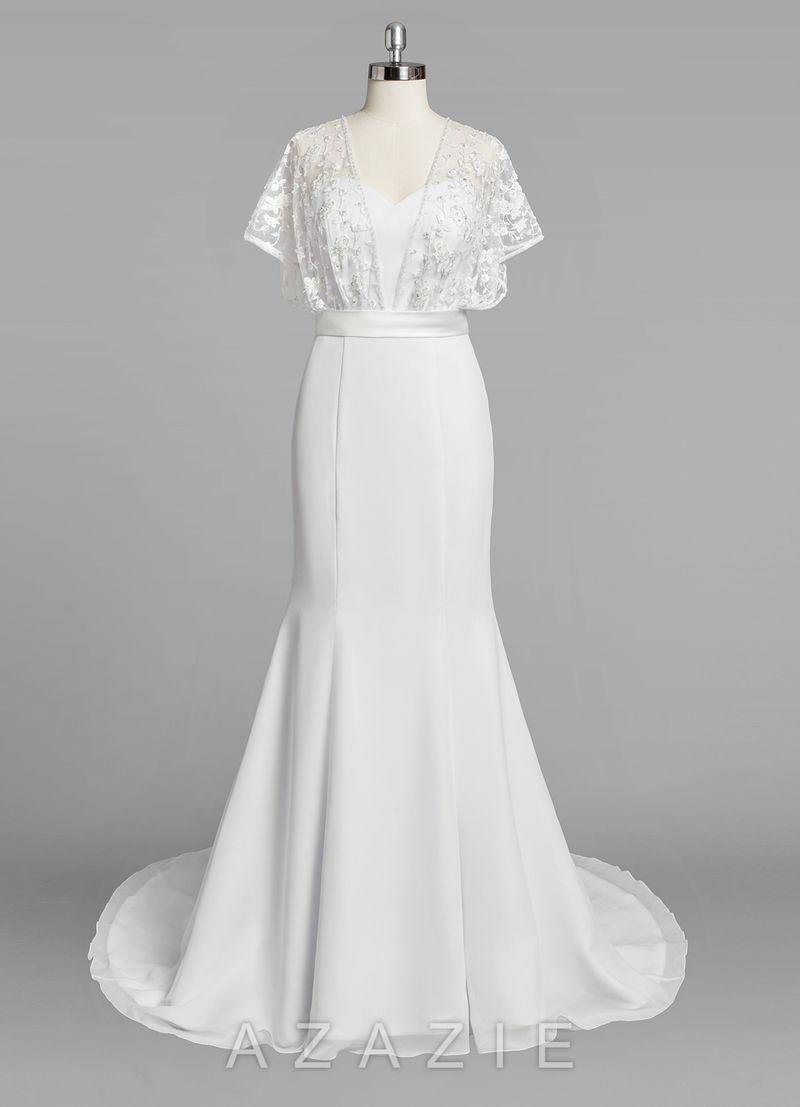 232586919aa Azazie Fallon- beautiful wedding dress! www.azazie.com