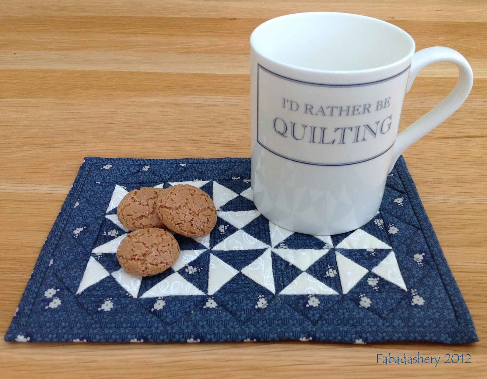Mug Rug Quilting Patterns - Mug rugs blue and white broken dishes quilt mug rug