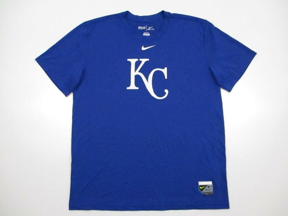 online store 93dfc 6d46c KC KANSAS CITY ROYALS MLB T Shirt L Large Blue Nike Dri Fit poly  Nike   KansasCityRoyals