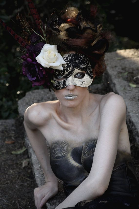 Handmade Masquerade Mask V by TwoTwentyTwoClothing on Etsy,
