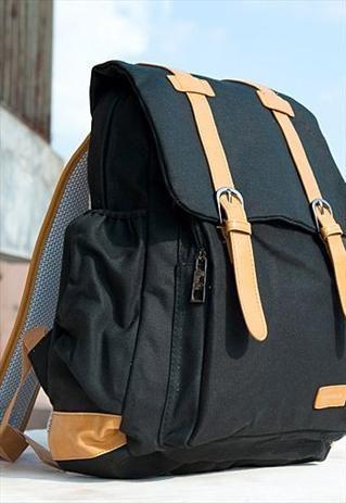 Vogue Color Block Buckle Backpack WS222  744401273ea9f