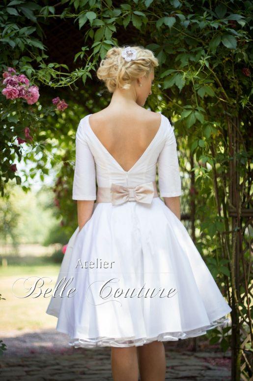 atelier belle couture | schlichtes 50er jahre brautkleid