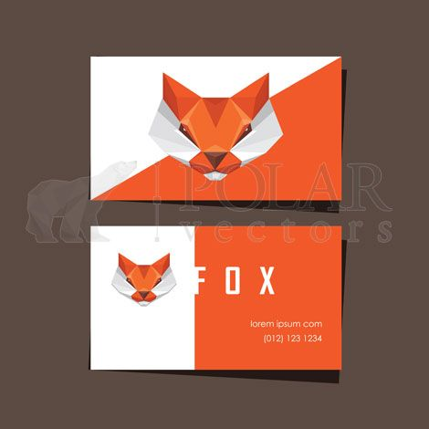 Business card template design with red fox logo creative business business card template design with red fox logo fbccfo Gallery
