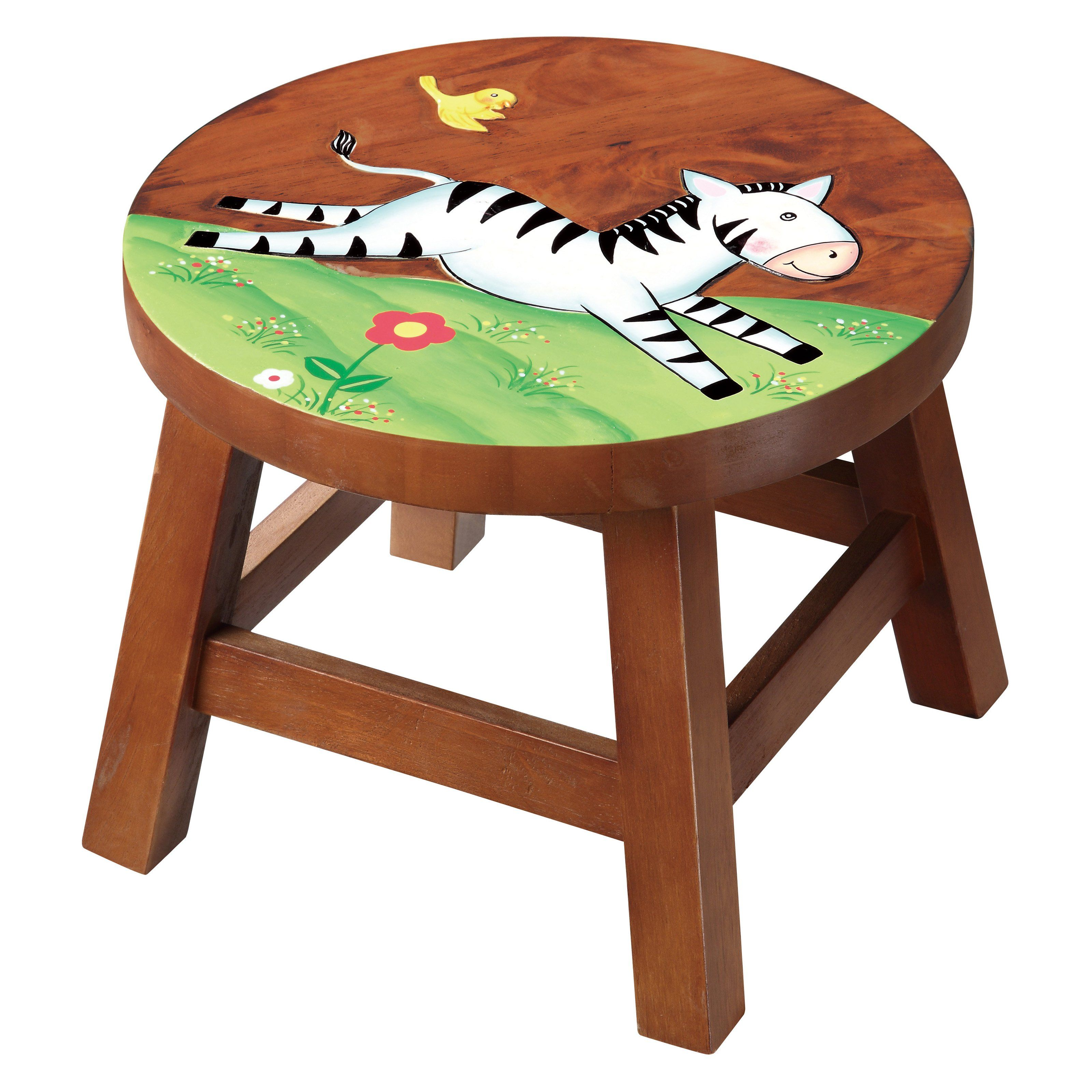 Have To Have It Teamson Kids Stool Zebra Kids Stool Wooden
