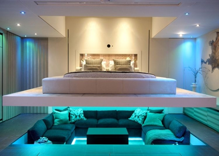 Futuristic Yo Home Homeadore Futuristic Bedroom One Bedroom Flat Sunken Living Room