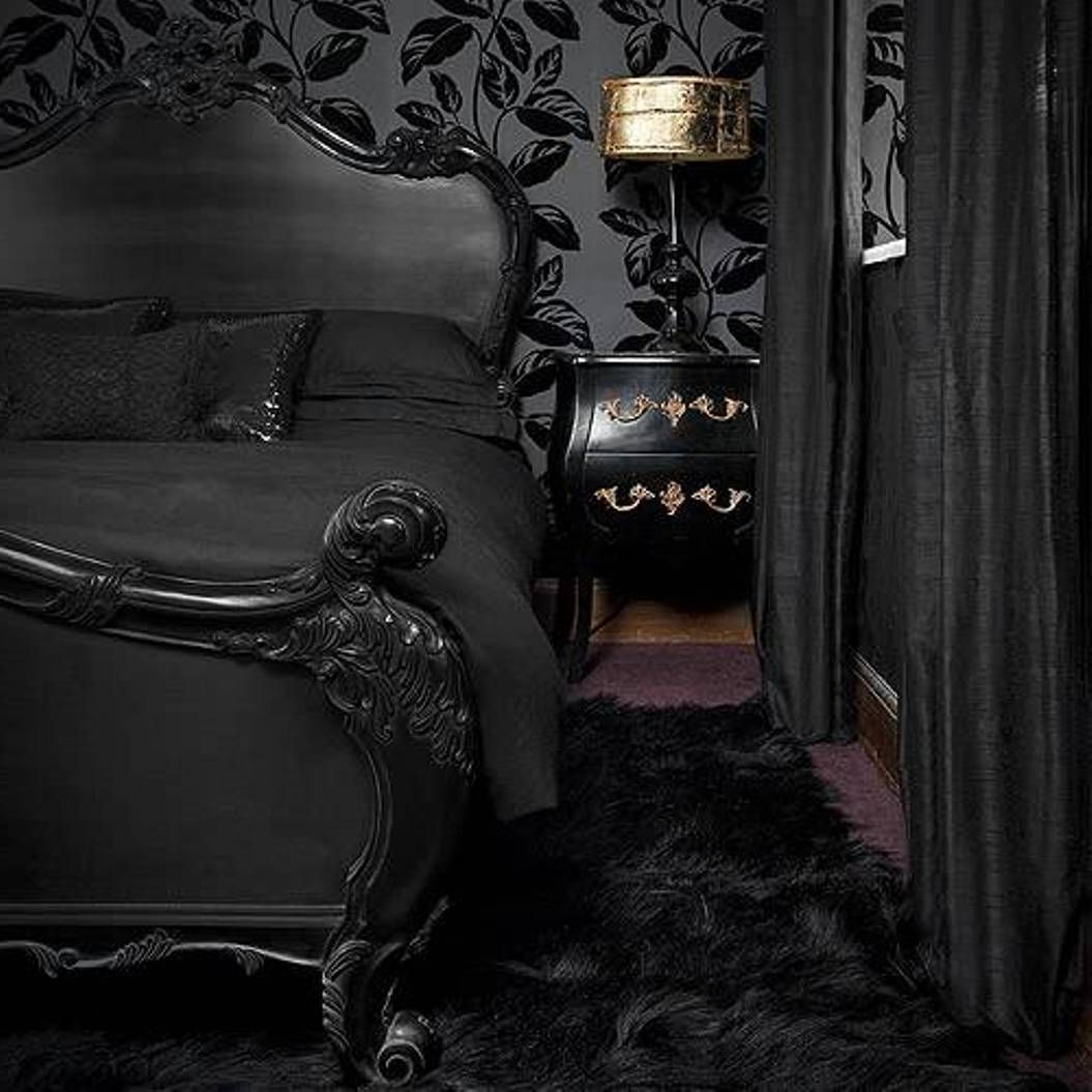 Romantic Gothic Bedrooms Google Search Schwarze Schlafzimmer