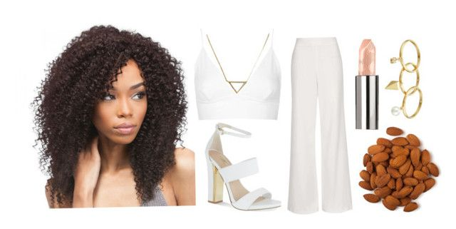 """The White Almond"" by immortal1fan ❤ liked on Polyvore featuring Topshop, Carvela, Burberry, Rebecca Minkoff and Banana Republic"
