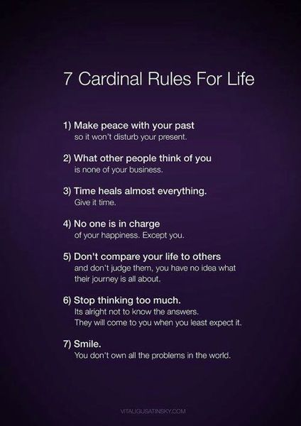Seven Common Sense Life Rules