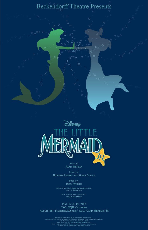 the little mermaid jr   The Little Mermaid Jr Poster (Beckendorff JH)